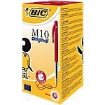 Stylo bille rétractable BIC M10 Rouge   50 Unités