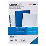 Couverture pour reliure LeatherGrain GBC A4 Cuir Bleu   100 Unités
