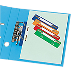 Esselte Relieurs de documents Assortiment Polypropylene, Plastique Perforation: 6 + 8 3,5 x 15 cm 100 Unités