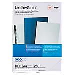 Couverture de reliure LeatherGrain GBC A4 Carton 180 Microns Blanc   100 Unités
