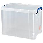Boîte de rangement pour 5 ramettes A4   Really Useful Box   19 litres   transparent   L.395 x P.255 x H.155 mm