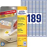 Étiquettes repositionnables Avery L4731 A4 Blanc 25,4 x 10 mm 189 Feuilles de 25 Étiquettes