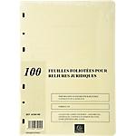 Recharge pour registre Exacompta A4   100 Feuilles