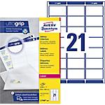 Étiquettes d'adresses Avery L7160 250 Blanc 63,5 x 38,1 mm 250 Feuilles de 21 Étiquettes