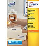 Étiquettes multifonction Avery 3655 Blanc 148 x 200 mm 100 Feuilles de 2 Étiquettes
