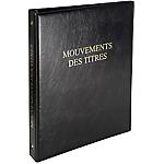 Registre Mouvements des titres des actionnaires Exacompta A4+