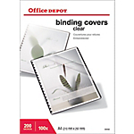 Couvertures de reliure PVC 200 µm Office Depot A4 Transparent   100 Unités