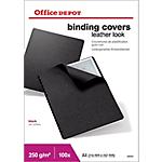 Couvertures de reliures Office Depot A4 Cuir 200  microns Noir   100 Unités