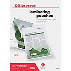Pochettes de plastification à chaud Office Depot Mat 150 µm Transparent 100 Unités