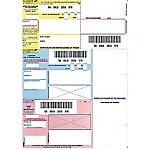 Imprimés de recommandés ELAMI Imprimés de Recommandé Assortiment   150 Unités