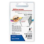 Cartouche jet d'encre Office Depot Compatible Epson T0715 Noir, Cyan, Magenta, Jaune C13T07154010 4 Unités