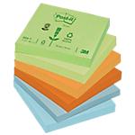 Notes repositionnables Post it 76 x 76 mm Assortiment   12 Unités de 100 Feuilles