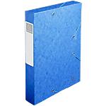 Boites de classement à élastique Exacompta Carte lustrée véritable 24 x 6 x 32 cm Bleu 10 Unités