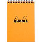 Bloc de bureau Rhodia Spirale Rhodia A5 Quadrillé Orange   80 Feuilles
