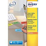 Etiquettes à code couleur Avery L6035 20 Jaune 20
