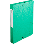 Boites de classement à élastique Exacompta Carte lustrée véritable 24 x 32 cm Vert 10 Unités