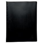 Protège documents soudé Exacompta Vega PVC 20 Pochettes A4 Noir