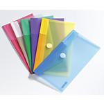 Pochette velcro chéquier Tarifold Color 510279 A5 Vert, violet, jaune, bleu, rose, transparent