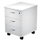 Caisson mobile 3 tiroirs Quadra 430 x 520 x 600 mm Blanc