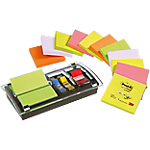 Notes adhésives + dévidoir Combo Designer Post it Post it Z Notes 76 (H)  x  76 (l) mm Assortiment   12 Paquets de 100 Feuilles