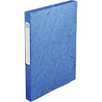 Boites de classement à élastique Exacompta Carte lustrée véritable 24 x 2,5 x 32 cm Bleu 25 Unités