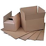 Caisse américaine simple cannelure Carton 200 (H) x 350 (l) x 220 (P) mm Marron   20 Unités