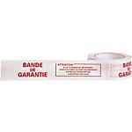 Ruban Adhésif Imprimé Bande de Garantie 50 mm x 100 m Blanc
