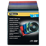 Boîtier CD et DVD Fellowes 25 Unités