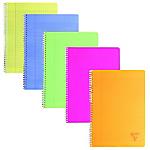 Cahier grands carreaux reliure intégrale Polypro Clairefontaine Linicolor A5+ Coloris aléatoire 100 Pages   50 Feuilles