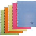 Cahier double spirale Clairefontaine Linicolor A4 Grands carreaux Séyès Assortiment   50 Feuilles