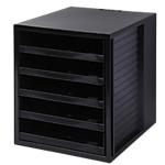 Classeur à tiroirs HAN 1401 13 5 33 x 32 x 27,5 cm Noir