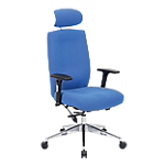 Siège de bureau ergonomique WorkPro Foton Tissu Bleu