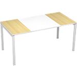 Bureau droit 4 pieds Paperflow EasyOffice Imitation hêtre, blanc 1600 x 800 x 750 mm