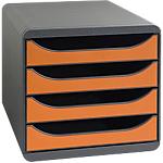 Module de classement Exacompta Classic 310788D 4 27,8 x 34,7 x 26,7 cm Noir, Tangerine