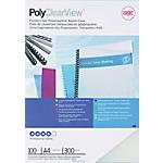 Couverture de reliure PolyClearView GBC A4 PVC. 300 Microns Blanc   100 Unités