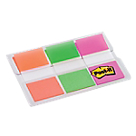 Marque Pages Post it Souples 2,4 x 4,32 cm Assortiment   3 Unités de 20 Bandes