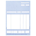 Imprimés de factures Ciel Facture 5 colonnes A4 Ciel BFA4N Blanc, bleu   400 Feuilles