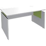 Bureau ajustable Adjust 1400 x 800 x 820 mm Blanc, vert