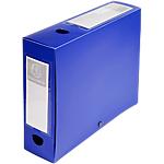 Boites de classement à pression Exacompta Opaque A4 80 mm Bleu