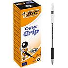 Stylo bille avec capuchon BIC Cristal Grip 0.4 mm Noir   20 Unités