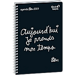 Semainier Quo Vadis Ben Ministre S 24 (H) x 16 (l) cm 1 Semaine sur 2 pages Noir