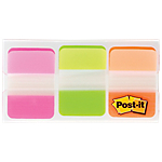 Marque Pages Post it Rigides 2,54 x 3,8 cm Assortiment   3 Unités de 22 Bandes