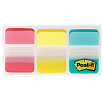 Marque Pages Post it Rigides 2,5 x 3,8 cm Assortiment   3 Unités de 22 Bandes
