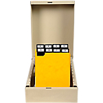 Intercalaires à onglets métalliques Exacompta Carte lustrée véritable 10,5 cm Orange