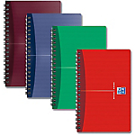 Cahier double spirale OXFORD Office Assortiment A6 Quadrillé Sans perforation   90 Feuilles