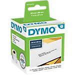 Etiquettes d'adresse DYMO LabelWriter LW 28 x 89 mm Blanc   2 Rouleaux de 130 Étiquettes