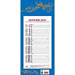 Calendrier mensuel mural 411 Bleu 2021 19 x 42 cm