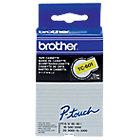 Ruban d'étiquettes en cassette Brother TC601 12 mm x 7,7 m Jaune, Noir   7.7 m