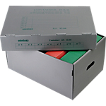 Container pour boites archives Extendos Gris 36 x 51 x 26 cm