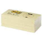Notes adhésives Post it 51 x 38 mm Jaune   12 Unités de 100 Feuilles